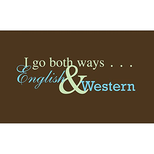 The Sound Equine Women's I Go Both Ways Tee Shirt, Brown, Small