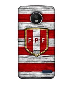 ColorKing Football Peru 10 Multicolor shell case cover for Motorola Moto E4