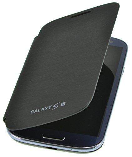 PhoneStar Flip Cover Schutzhülle Case für Samsung Galaxy S3 i9300 in schwarz