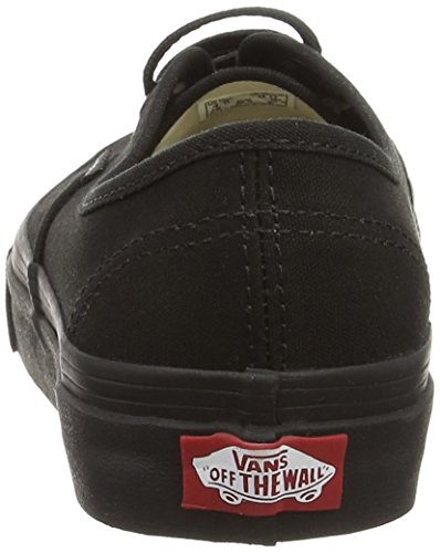 Black Negro Mujer Black Zapatillas para Authentic Vans 4wqWnz8vS