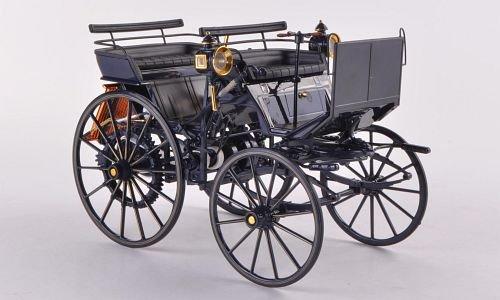 Mercedes Daimler Motorkutsche, black , 1886, Model Car, Ready-made, Norev 1:18