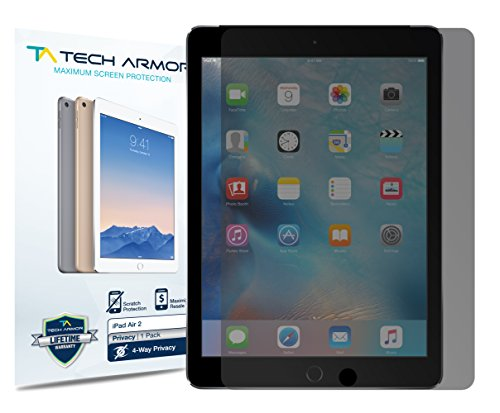 iPad Air Privacy Screen Protector, Tech Armor 4Way 360 Degree Privacy Apple iPad Air / Air 2 / NEW iPad 9.7 (2017) Film Screen Protector [1-Pack]