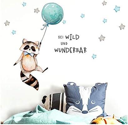 Little Deco Sticker Spruch Sei Wild Waschbar I Wandbild S 72 X 33 Cm Bxh I Luftballon Wandbilder Wandtattoo Kinderzimmer Junge Tiere Deko Babyzimmer Kinder Dl324 Amazon De Kuche Haushalt