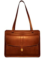 Jack Georges Dowel Tote, Cognac, One Size