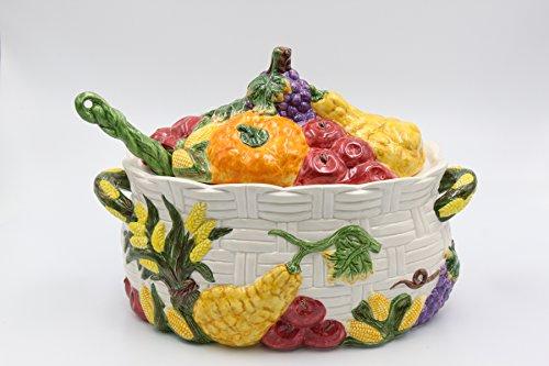 Cosmos Harvest Tureen, Multicolor by Cosmos
