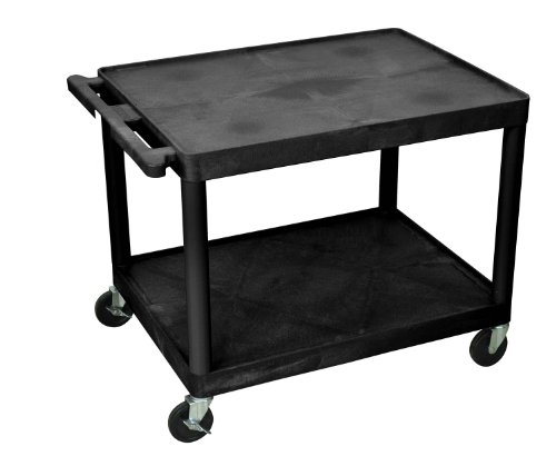 Luxor LP27-B AV Multipurpose Utility Carts with 2 Shelves