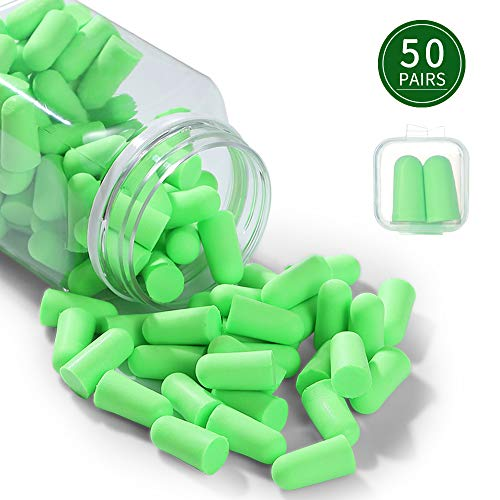 Ear Plugs 50 Pairs Ear Plugs for Sleeping NNR 35dB Super Soft Noise Cancelling Ear Plugs for Shooting Hearing Protection Hunting Season Sleeping Working Travel Loud Events (Best Shooting Hearing Protection 2019)