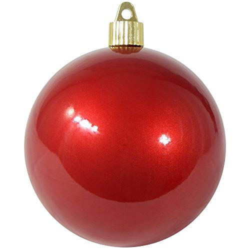 - Christmas by Krebs KBX72952 Shatterproof Christmas Ball Ornament, 4-Inch, Candy Red