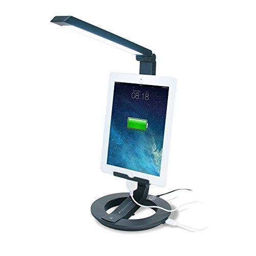CTA Digital LED Desk Lamp Charging Stand for Tablets & Smartphones PAD-DLC