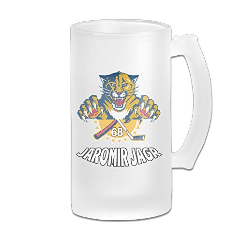 [ZZYY Fashion Lover Matte Glass Beer Cup Florida Tigers JaJagr Ice Hockey Logo Home Cool 16-Ounce Mug] (Hockey Stanley Cup Costume)