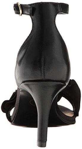 Chino De La Ropa Para Mujer Remmy Vestido Sandalia Negro Satinado
