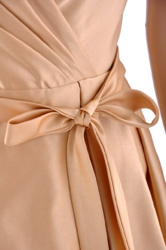 Straps line Bridesmaid A Black Dress Length Satin Natrual Knee tSw68