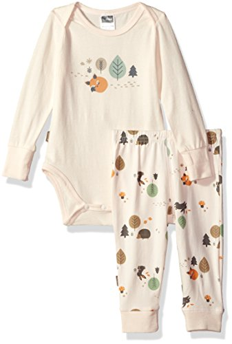 Kushies Baby Infant Bodysuit and Pants Set, Ecru, 6 Months (Baby Kushies Clothes)