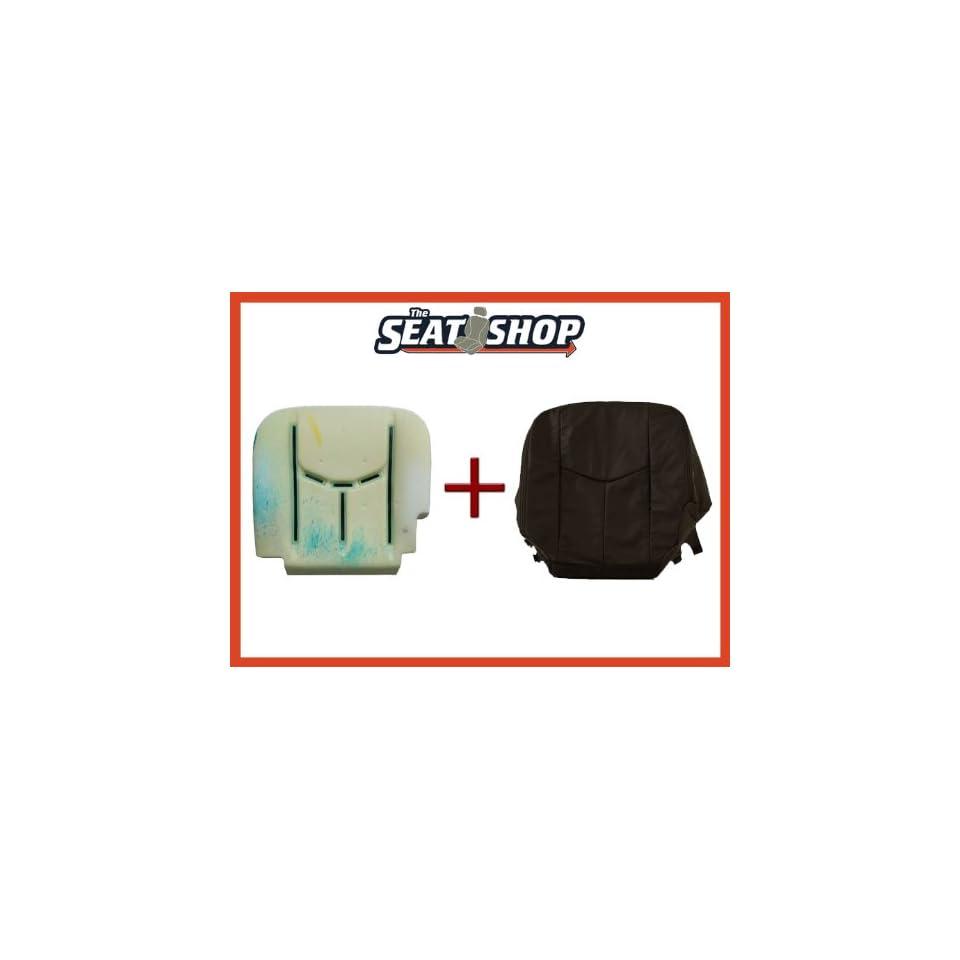 04 05 06 Chevy Silverado Graphite Leather Seat Cover bottom & foam LH