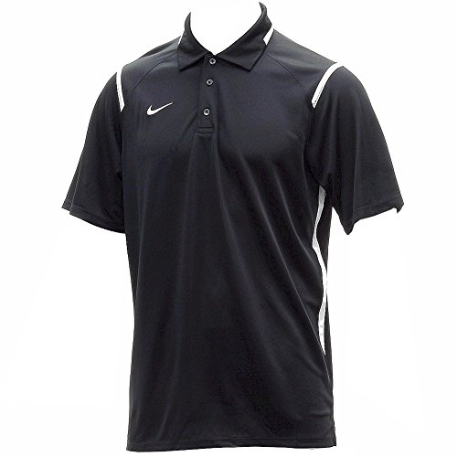 Dri Fit Game (Nike Men's Dri-Fit Game Day Black/White Short Sleeve Polo T-Shirt Sz: M)