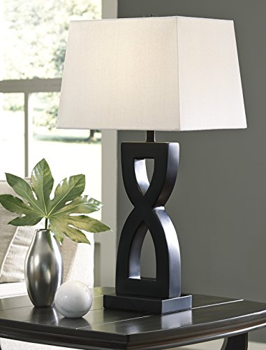 Amesei Black Color Poly Table Lamp, Set of (150w 3 Way Table Lamp)