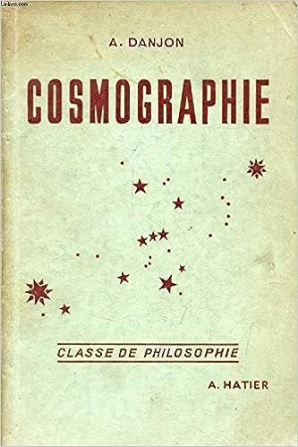 Algebre Et Cosmographie Classe De Philosophie R Pernet