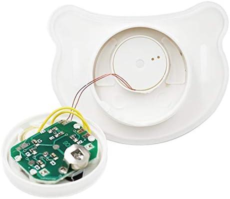 Term/ómetro Cuidado del beb/é del pez/ón Term/ómetro Chupete term/ómetro del LCD Digital de Seguridad y Salud de los Ni/ños