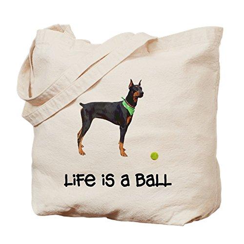 CafePress Doberman Pinscher Life Natural Canvas Tote Bag, Cloth Shopping Bag