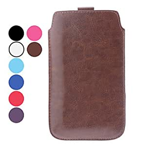 GONGXI Solid Color PU Leather Pouch for Samsung Galaxy Note 2 N7100 , Black
