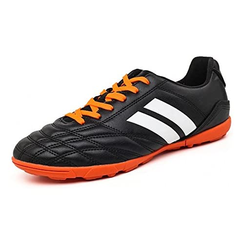 YING LAN Men's Boys Turf Cleats Soccer Athletic Football Outdoor/Indoor Sports Shoes TF Black