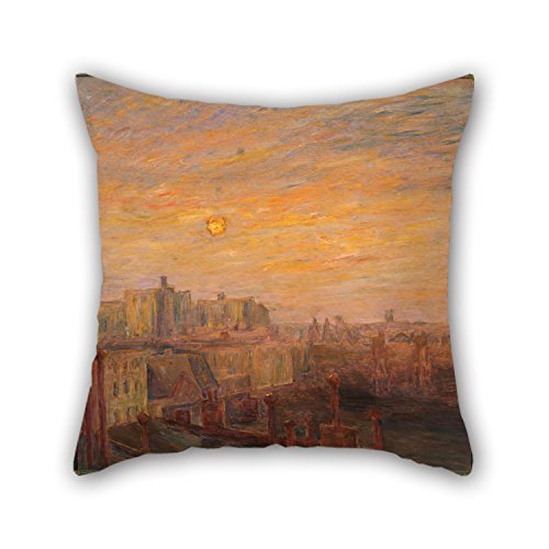 Artistdecor Throw Cushion Covers Of Oil Painting Carroll Brown - From My Studio Window,for Teens Boys,chair,kids Girls,shop,car,car Seat 16 X 16 Inches / 40 By 40 Cm(two Sides)