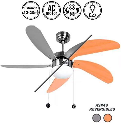Ventilador de techo con luz Serie Cibeles: Amazon.es: Hogar