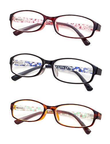 3-Pack Reading Glasses With Spring hinges for Women +3.5 ()
