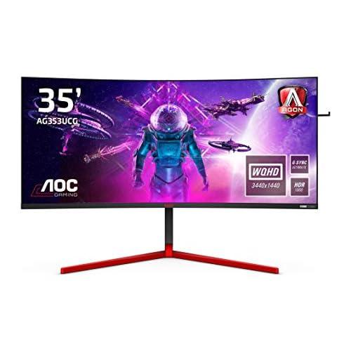 chollos oferta descuentos barato AOC Monitor AGON AG353UCG 35 Curved 1800R UWQHD 200Hz 1ms VA G Sync Ultimate 3440x1440 1000 cd m HDMI 1x2 0 Displayport