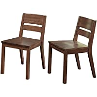 Target Marketing Systems Edina Collection Modern Natural Finish Set of 2 Dining Sitting Chairs, Set of 2 Chairs, Walnut, This Listing is for the Chairs Only