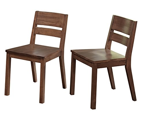 Target Marketing Systems Edina Collection Modern Natural Finish Set of 2 Dining Sitting Chairs, Set of 2 Chairs, Walnut, This Listing is for the Chairs - Stores Edina