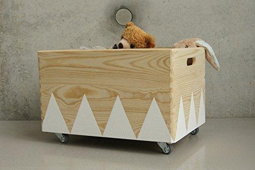 Disney Minnie Mouse Toy Box Spielzeugkiste Aufbewahrung Kinderzimmer  Spielzeug Holz +Canvas