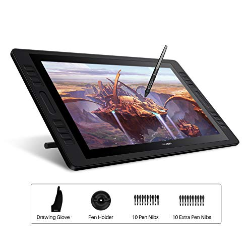 Huion KAMVAS Pro 20 (2019) 19.5 inch Graphics Drawing Monitor with Battery-Free Tilt 8192 Pen Pressure Tablet with 16 Press Keys HD(1920x1080) Pen Display for Windows and Mac.