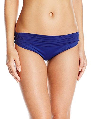 La Blanca Women's Island Goddess Shirred Band Hipster Bikini Swimsuit Bottom, Midnight, 16 ()