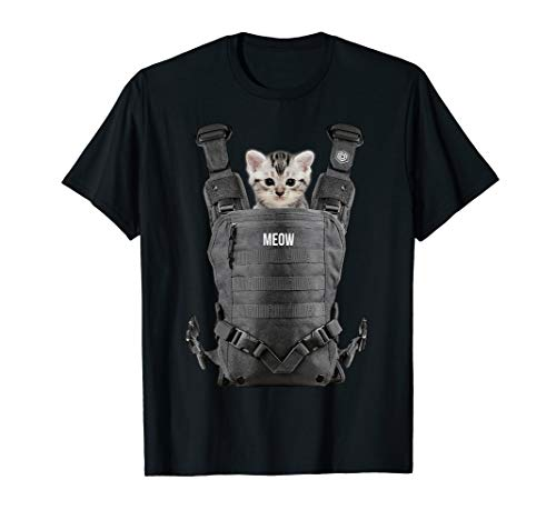Halloween Cat T Shirt Cool kitty cats Carrier funny gift tee