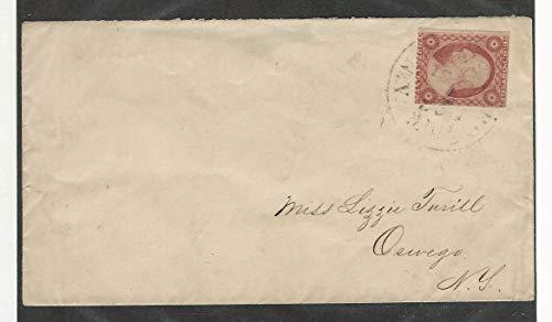 United States, Postage Stamp, 11 Cover, Oswego, New York, JFZ