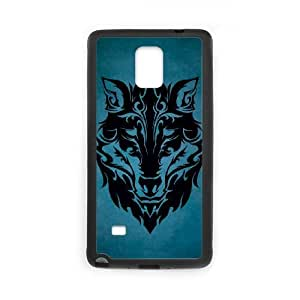 Wolf Face Samsung Galaxy Note 4 Cell Phone Case Black UF1172221