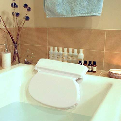 Oreiller de bain–Spa antidérapant Taie d'oreiller pour coussin de bain baignoire, souple et étanche avec 7antidérapants ventouses, oreiller de bain Spa pour le cou, tête et maintien du dos, SPA appuie-tête avec résistant de qualité en microfibre Matéria