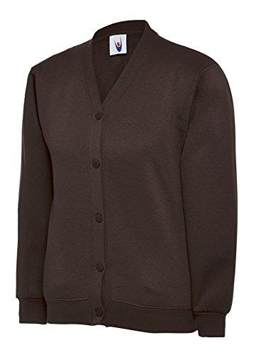 Uneek Clothing Kinder mit Plain-Form für Kleidung Kinder für die Schule Jersey Kimono Jacke In Der Oberseite und Seitentaschen auf dem Etikett mit Namen Braun