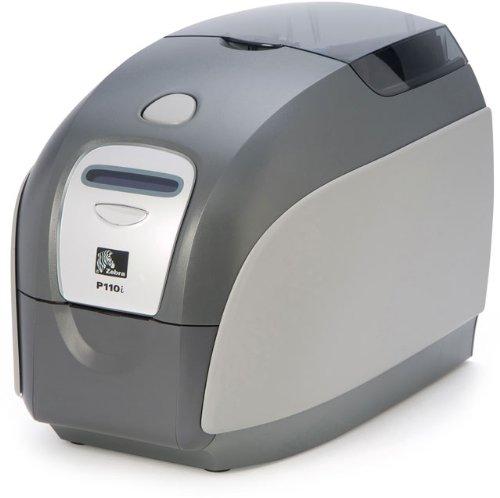 Zebra P110i P110i-0000A-ID0 Color ID Badge Card Printer System + Supply - Zebra P110i Card Printer
