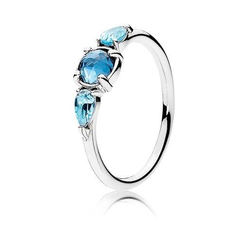 anello pandora gocce d'argento