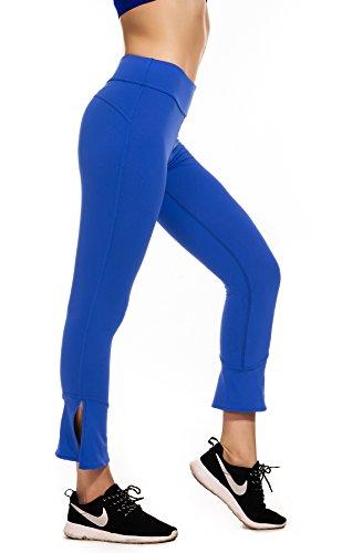 Girls Blue Sports Flare Pants - 8