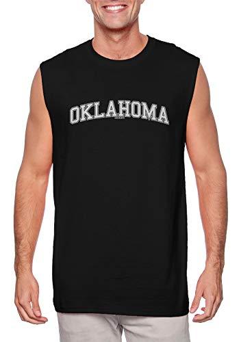 HAASE UNLIMITED Oklahoma - State School University Sports Men's Sleeveless Shirt (Black, Large)