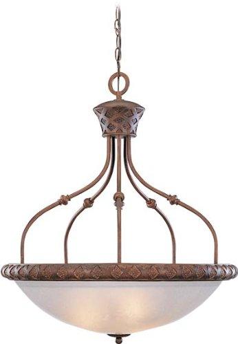 Volume Lighting V3404-31 Alexandria 4-Light Chandelier, Bowl Pendant