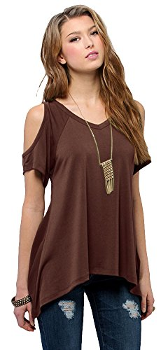 Urban CoCo Women's Vogue Shoulder Off Wide Hem Design Top Shirt - XXX-Large - ()