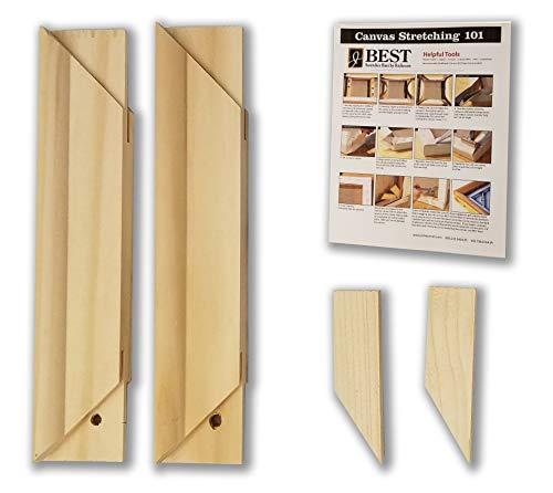 - Stretcher Bar Bundle-Jack Richeson Medium Duty Stretcher Bars, 8 Qty 2; Wood Keys; Canvas Stretching 101 Guide (5 Items)