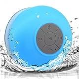 MINI BOCINA SHOWER, Bluetooth, Contra Agua, Recargable, Azul