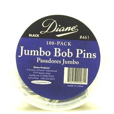Diane Jumbo Bob Pins 100's Black Tub