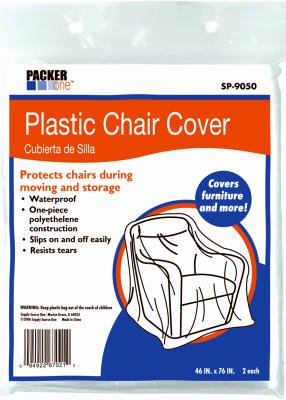 All Boxes Direct #SP-9050 2PK Plastic Chair Covers