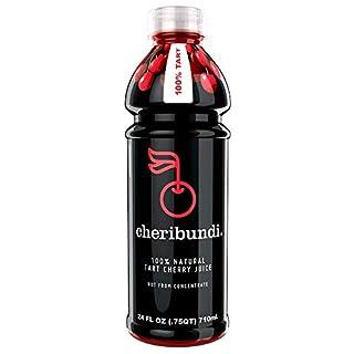 Cheribundi 100% Tart Cherry Juice – 60 Tart Cherries and 100 Calories per 8 oz. Serving, One Ingredient, All of the Benefits, Reduce Soreness, Recover Faster, Boost Immunity and Improve Sleep, 8 Pack